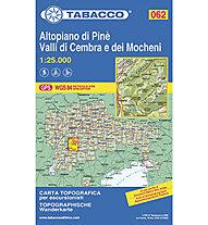 Tabacco Tabacco Karte 062: Altopiano di Pinè, Valli di Cembra e dei Mocheni, 1 : 25.000