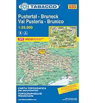 Tabacco N° 033 Pustertal/Val Pusteria - Bruneck/Brunico (1:25:000), 1:25.000