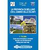 Tabacco Provincia di Belluno 1:75.000 Wander- und Straßenkarte, 1:75.000