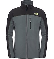 The North Face Glacier Trail Jacket - giacca in pile, Spruce Green/TNF Black