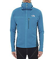 The North Face Super Flux Hoodie giacca in pile, Enamel Blue/Depth Green