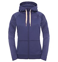 The North Face W Suprema Full Zip Hoodie Felpa Fitness Donna, Dark Blue