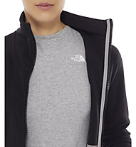 The North Face 200 Shadow Full Zip Fleecejacke Damen, TNF Black