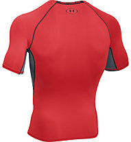 Under Armour Armour HG SS T-Shirt fitness, Rocket Red/Black