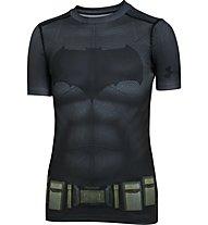 Under Armour Batman Suit SS T-Shirt Bambino, Grey/Black