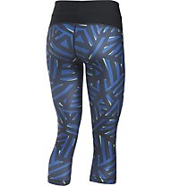 Under Armour Capri UA HeatGear Armour Printed Pantaloni corti fitness donna, Blue