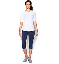 Under Armour Coolswitch Run Elbow T-shirt running donna, White
