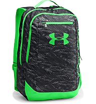Under Armour Hustle Backpack LDWR Zaino, Black/Green