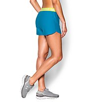 Under Armour Short UA Play Up Pantaloni corti fitness donna, Light Blue/Yellow