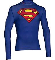Under Armour Superman Evo Comp - T-Shirt, Navy