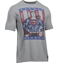 Under Armour Transform Yourself Retro Superman T-Shirt fitness, Grey