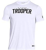 Under Armour Trooper Kompressionsshirt Star Wars, White