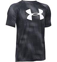 Under Armour UA Big Logo T-Shirt fitness bambino, Grey