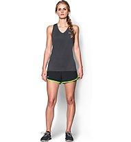 Under Armour Perfect Pace Short Damen, Black/Light Green