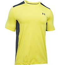 Under Armour UA Raid T-shirt running, Yellow/Grey