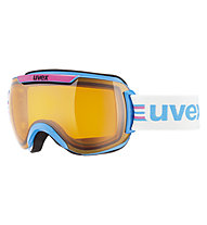 Uvex Downhill 2000 Race Chrome - maschera sci, Pink/Cobalt Chrome