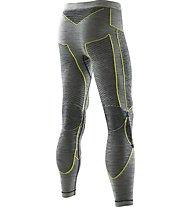 X-Bionic Pantalone intimo lungo Apani Merino Man UW Pants Long, Black/Yellow