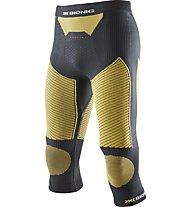 X-Bionic Ski Touring Evo Man Pants Medium lange Unterhose, Black/Yellow