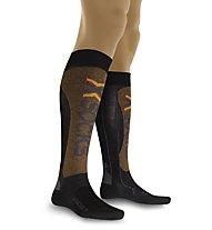 X-Socks X- Factor Calze da Sci, Black/Orange